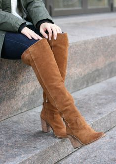 Christmas Outfit Inspiration Steve Madden brown suede over the knee bootsSteve Madden brown suede over the knee boots Nordstrom Boots, Bootie Boots, Shoe Boots, Brown Suede Boots, Suede Knee High Boots, Brown Thigh High Boots, Over The Knee Boot Outfit, Espadrilles, Boating Outfit