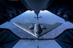 B-2 Spirit Aircraft refuel In air