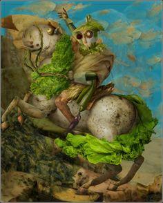 «Наполеон на картошке» (художник Ju Duoqi)