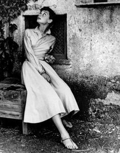 Audrey Hepburn in Rome, Italy, 1955. Photo by Philippe Halsman