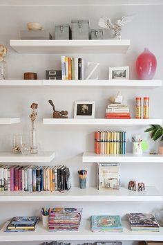 colourful bookcase - i guess i need to paint regular ones to get my cream colored bookcase wall