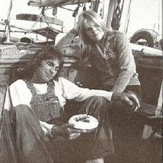 Dennis Wilson - Dennis with Karen Lamm sharing a Birthday cake Wilson Brothers, Dennis Wilson, Mike Love, Soft Heart, The Beach Boys, Karen, Animal Party, White Man, Baby Love