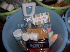 Beach Pail Goody Bags for Summer Birthday Party
