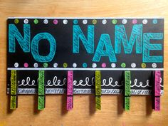No Name Paper Board $15  by ClassroomCraze on Etsy