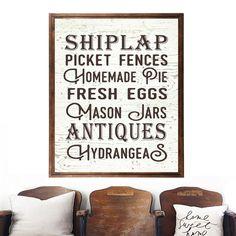 Shiplap Picket Fences Farmhouse wall art Affiliate.link