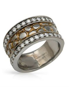 HELLMUTH sterling silver diamond Ring Womens