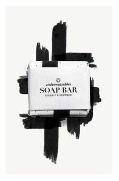 Soap bar (sea salt & seaweed) by Spread Studio for Underwearables.