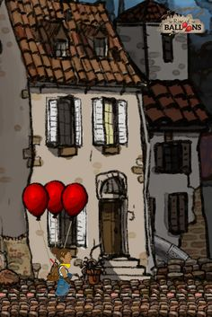 This is an alpha stage preview of Rise of Balloons. Follow us for more!  www.riseofballoons.com #riseofballoons Video Game, Balloons, Stage, Painting, Paintings, Draw, Video Games, Balloon, Drawings