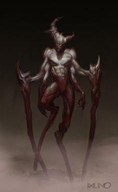 Unknown world creature, Rodrigo Idalino on ArtStation at https://artstation.com/artwork/unknown-world-creature