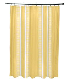 Colorful Shower Curtain Turquoise Teal Orange Yellow Striped Bath Bathroom Decor Designer