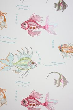 My future powder room wallpaper . . . ' Nina Campbell Aquarium