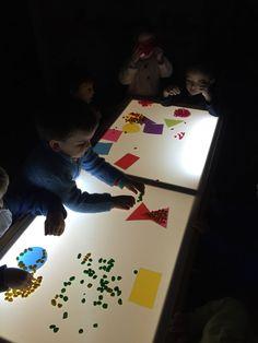 Mesa de Luz y figuras geometricas