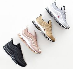 The Nike Air Max 97 is said to be the best in class in terms of comfort and desi. - The Nike Air Max 97 is said to be the best in class in terms of comfort and design. This particular timeless model was first introduced way back in Sneakers Mode, Air Max Sneakers, Sneakers Fashion, Fashion Shoes, Sneakers Style, Nike Sneakers, Cute Shoes, Women's Shoes, Me Too Shoes
