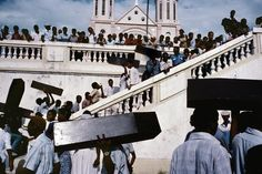 Alex Webb HAITI. Port-au-Prince. 1987. A memorial for victims of army violence.