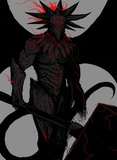 """spaghettibastard: """" -CHERNOBOG- (aka Chernobog The Black Hammer or alternatively Chernobog the Tainted) High value asset of the Infernal Conglomerate, specifically contracted by the crow lords of the. Fantasy Demon, Demon Art, Fantasy Monster, Dark Fantasy Art, Fantasy Artwork, Dark Art, Fantasy Character Design, Character Design Inspiration, Character Art"""