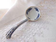 Blue and White Ceramic Ladle / Antique by CuriosAnCollectibles, £15.00