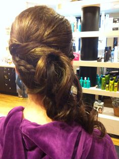 Back view updo