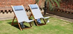 Beach chairs with pillow Outdoor Furniture Sets, Outdoor Decor, Beach Chairs, Online Furniture, Natural Materials, Sun Lounger, Outdoor Living, India, Pure Products