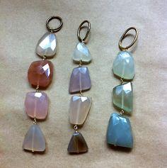 Chalcedony pendants