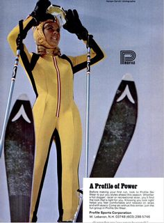 Profile - SKI Nov 1973 - Cataloged by Pugski.com Ski Magazine, Ski Racing, Ski Girl, Ski Equipment, Alpine Skiing, Snow Fashion, Vintage Ski, Vancouver, Advertising