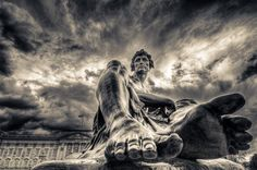 surreal HDR sculpture photo