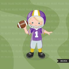 Football clipart. Sport graphics boys american player | Etsy Football Boys, Football Players, Sports Graphics, Sports Party, Muji, Digital Stamps, Party Printables, Printing On Fabric, Clip Art