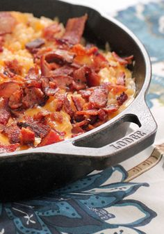 Cheesy Chicken and Rice Skillet Dinner with Bacon Recipe