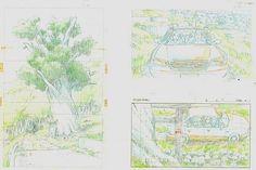 Film: Spirited Away (千と千尋の神隠し) ===== Layout Design - Scene: A Secret Path ===== Hayao Miyazaki