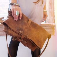 Leather tote. So cute!!