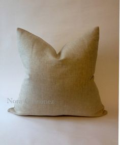 Decorative Linen Throw Pillow Cover   Invisible by NoraQuinonez