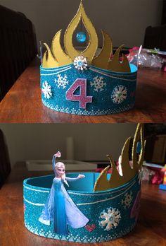 Elsa-Geburtstagskrone aus Moosgummi und Pappe