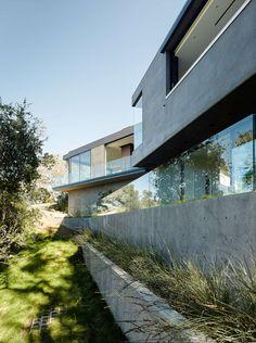 façade nord - Oak Pass Main House par Walker Workshop - Los Angeles, Usa