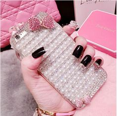 Manual DIY Luxury Pearl Diamond Case For iphone 5 6 plus Samsung Galaxy J1 J5 J500 J7 J700f 2016 Cute Bowknot Bling Hard Cover //Price: $US $4.69 & FREE Shipping //     #apple