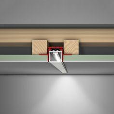 LED Profilelement- LED Profilelement M28 Alu Profile|Linear LED & Profile| Darklight Design | Lighting Design & Supply Architectural Lighting Design, Modern Lighting Design, Linear Lighting, Cool Lighting, Strip Lighting, Interior Lighting, Led Light Design, Ceiling Light Design, Home Ceiling