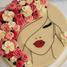 cake decorating videos The most beautiful cake you have ever seen is this floral face cake! Cake Decorating Piping, Birthday Cake Decorating, Cake Decorating Techniques, Cake Decorating Tutorials, Cookie Decorating, Decorating Ideas, Cake Icing, Buttercream Cake, Cupcake Cakes