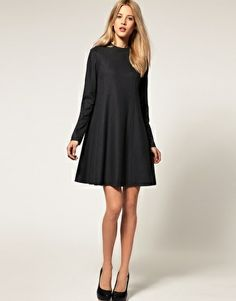 ASOS A line dress with High Neck