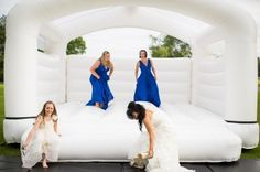 Wedding bouncy castle, £250 for 7 hours. Wish I'd known about this!!