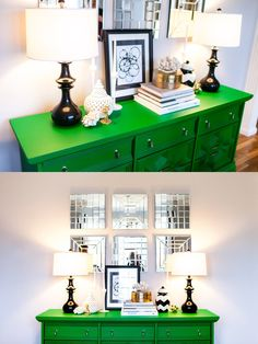every bit lovely: kelly green dining room!
