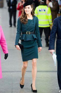 Kate Middleton Wears LK Bennett Peplum Suit for Launch of Diamond Jubilee Tour - Glamazon Diaries