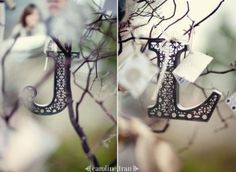 Our initials as wedding details.