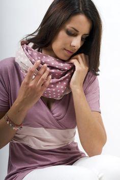 """La sciarpa allattamento grigio motivo """"Rosalie"""", taglia S-M: Amazon.it: Prima infanzia"""