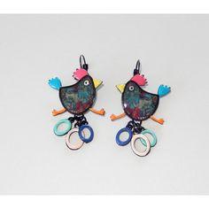 Boucles d'oreilles - Pauline la poulette