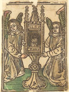 A Monstrance Held by Two Angels