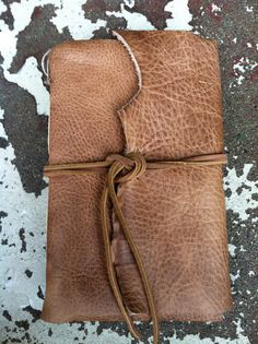 Rugged Leather Writer's Journal archival paper by bindingbee,