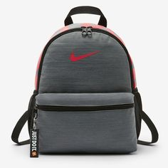 695b01fbbaea Nike Brasilia Kids  School Backpack (Mini) w  Just Do It Keychain. Nike  BackpacksSchool BackpacksGirl dormsCollege BoysBackpacking ...