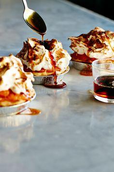 Sweet potato pies with marshmallow tops