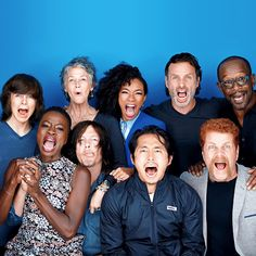 The Walking Dead cast photographed by Michael Muller for Entertainment Weekly @sdcc2015