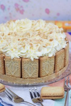 No-Bake Custard Cream Cheesecake! - Jane's Patisserie