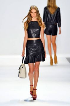 Get inspired by the all-leather looks in Charlotte Ronson's Spring 2013 collection!