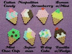 8pc ICE CREAM CONES Magnet Set // Single Scoop by RainbowMoonShop